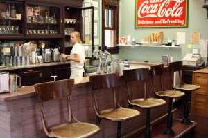 Soda fountain in Lake City, Colorado