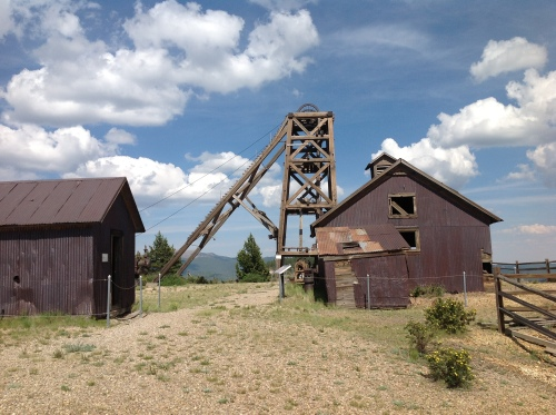 Headframe and Shops at the American Eagles Mine
