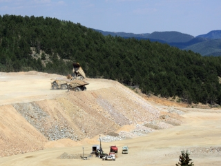 Dumping Overburden from the CC&V Open Pit Mine