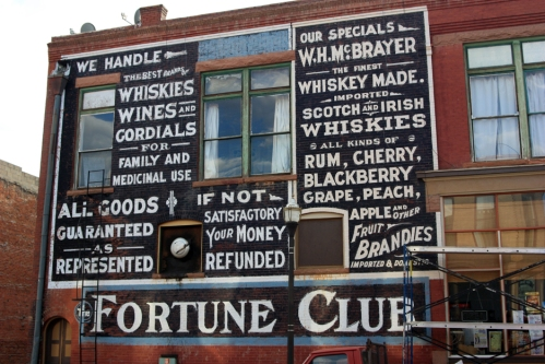 The Fortune Club in Victor, Colorado, known for its . . . er . . . entertainment.