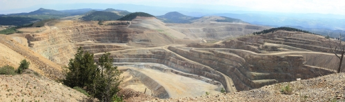 Panorama of the Cripple Creek and Victor Open Pit Gold Mine