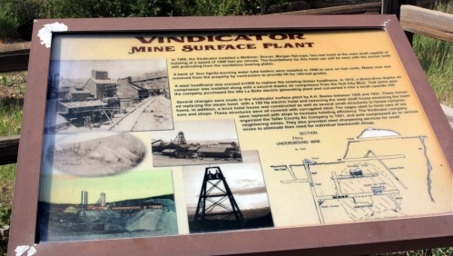 Sign for the Vindicator Mine and Mill