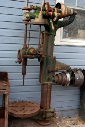 Belt-driven drill press at the Tintic Mining Museum