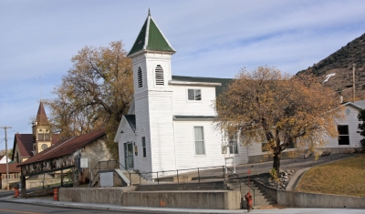 Historic churches in Eureka, Utah.