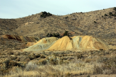 Waste rock pile at the Swansea Consolidated Mine near Silver City