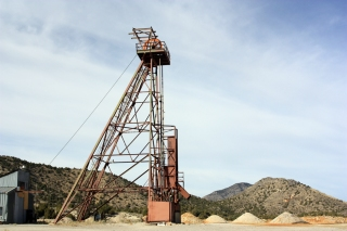 Headframe at the Trixie Mine above Burgin.