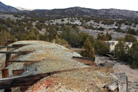 Mine dump at the Tintic Standard Mine near Eureka, Utah