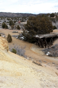 Mine dump with contaminated soils at the Tintic Standard Mine