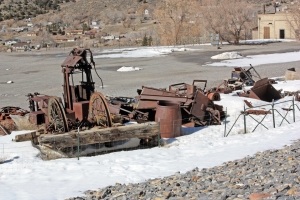 Mining gear at the Chief Consolidated Mining Company headquarters.