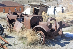 Old car behind the Tintic Mining Museum in Eureka, Utah.