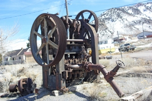 A pump used to drain water from the mines. Power for the pump came from the Nunn brothers' hydroelectric station in Provo Canyon.