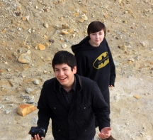 Sean and Indie at the Silver City mine dump.