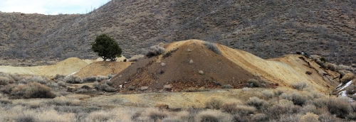 Western side of the Swansea Consolidated mine dump near SIlver City.