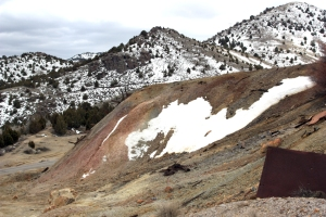 Main waste rock dump at the Tintic Standard Mine.