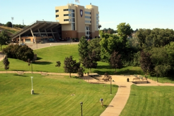 Weber State University campus seen from the science building