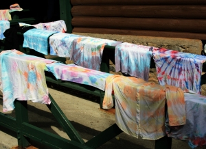 Drying T-shirts at Timp Lodge.