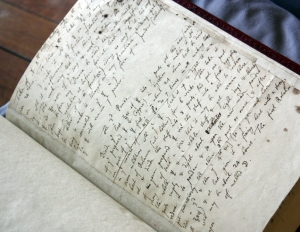 Alchemical manuscript by Sir Isaac Newton, at the Chemical Heritage Foundation