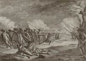 Engraving of the Battle of Lexington Green, April 19, 1775.