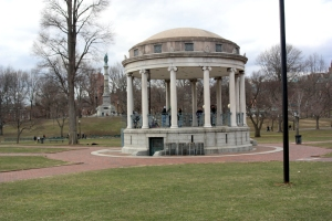 A pavilion on the Boston Commons