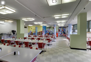 Dining room at 40 Berkeley. They serve an excellent hot breakfast cafeteria style.