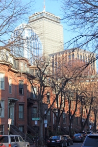 The view from my route along Appleton St. in Boston, April 4, 2014.