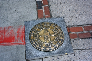 A marker on the Freedom Trail