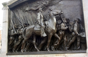 Monument to Robert Gould Shaw and the Massachusetts 54th Infantry Regiment