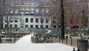 The Granary Burying Ground, where Paul Revere and Sam Adams are buried