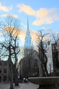 Old North Church at sunset