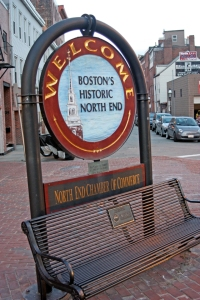 Sign to Boston's North End