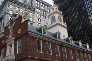 Old State House. The square near where I took this photograph is the site of the Boston Massacre.
