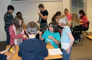 An activity during our Science Showcase night; April, 2014.