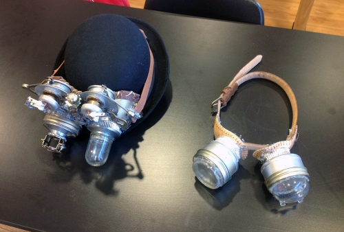 Steampunk goggles I made for the STEAMpunk Club