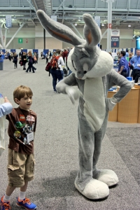 A Wascally Wabbit on the dealers' floor at the NSTA conference in Boston, 2014.