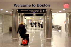 Arriving at Logan International Airport in Boston