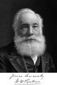 William Henry Perkin, who discovered the first synthetic aniline dye (mauveine) at age 18 in 1856.