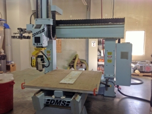 Foam milling machine used to cut the pieces for the dragon.