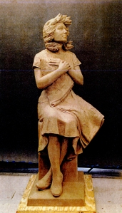 Clay model for Wingless Victory statue.