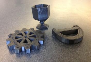 Black plastic objects