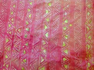 Attempted batik-triangle patterns