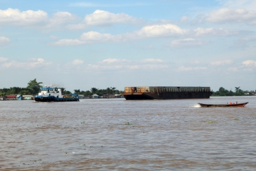 Barge on Barito River
