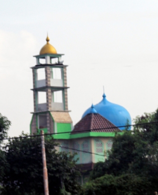 Blue dome mosque