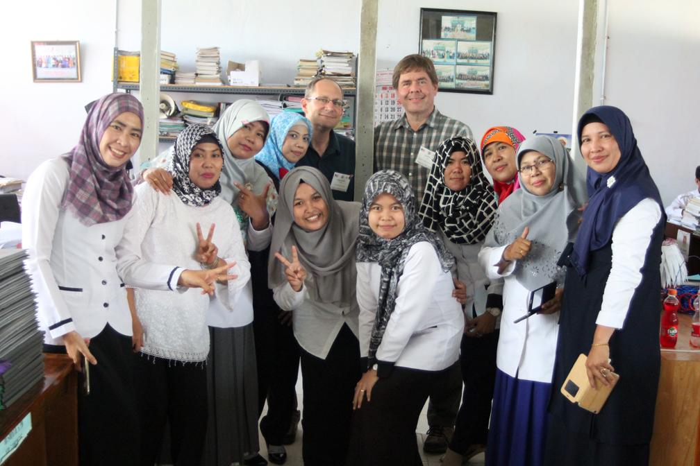 Craig and David with teachers