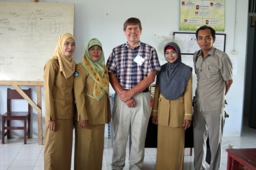 David with chemistry teachers