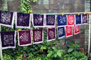 Everyones batik drying