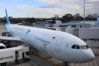 Garuda flight from Sydney