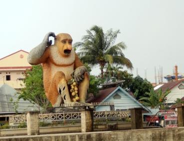 Giant spitting monkey