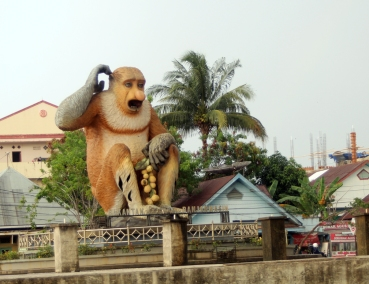 Giant spitting monkey