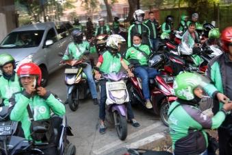 Gojek drivers