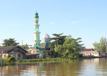 Green tower mosque